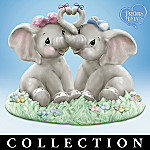 Precious Moments Forget Me Knots Collectible Elephant Figurine Collection
